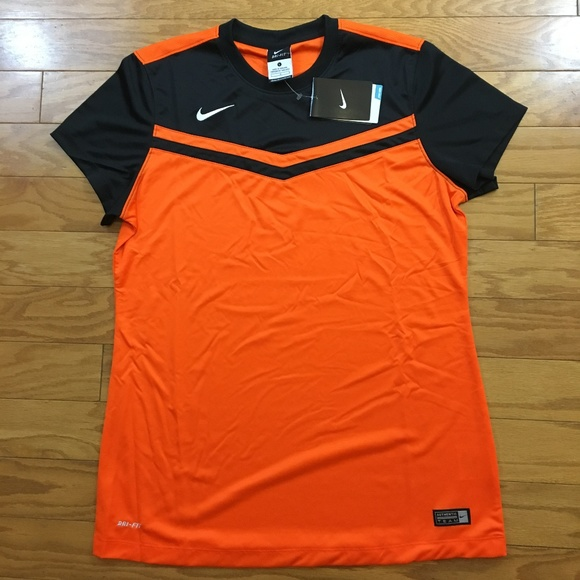 Nike Authentic Soccer Jersey Orange Black Large 1072fac8d